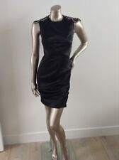 Designer Black Dress By MANNING CARTELL Excellent Condition Size 6 With Crystals