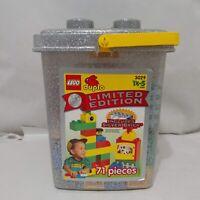 Vintage Lego Duplo Silver Limited Edition 71 Piece Set #3029 With Silver Brick