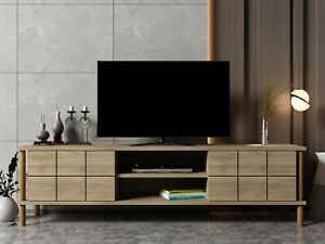 """Black Walnut Colour Wooden TV Cabinet  Media Storage Space , up to 70""""-Alora"""