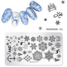 Nail Art Stamping Plates Image Plate Decoration Christmas Joy Snowflakes (MAN01)