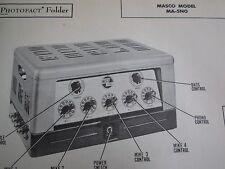 MASCO MA-50N AMP AMPLIFIER PHOTOFACT