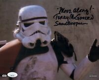 TERRY MCGOVERN Signed STAR WARS SANDTROOPER 8x10 TOPPS Photo Autograph JSA COA