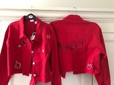 Disney Mickey Mouse Cropped Jacket Ladies UK Size 10 / US 8 / EU 38