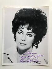 Elizabeth Taylor signed 8x10