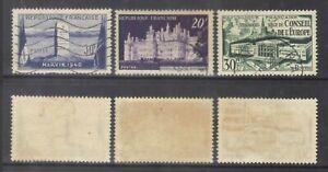 France 1952 Sc.677-9.