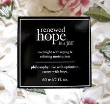 PHILOSOPHY~Renewed HOPE IN A JAR NIGHT~Recharging Refining Moisturizer~2 oz NIB