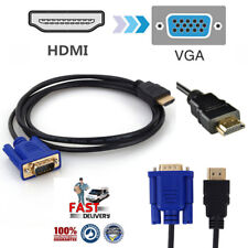 HDMI Male to VGA Male Video Converter Adapter Cable for DVD 1080P HDTV PC 1.8M
