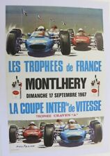 AFFICHE ANCIENNE TROPHEES FRANCE CIRCUIT MONTLHERY 17 SEPT 1967 BELIGOND