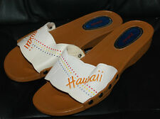Ladies Size 7 / 38 Vintage Shoes Sandals HAWAII Souvenir Shoe Hawaiian UNIQUE