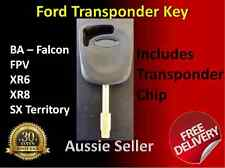 FORD Key BA FALCON TERRITORY XR6 XR8 FPV TRANSPONDER KEY With Chip FORD CAR KEY
