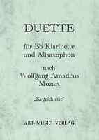 14 DUETTE KLARINETTE & ALT-SAXOPHON > MOZART ( NOTEN )