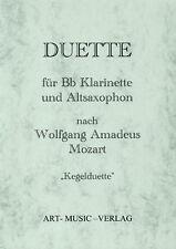 NOTEN 14 DUETTE KLARINETTE & ALT-SAXOPHON NACH > W.A. MOZART