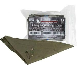 North American Rescure NAR Triangular Bandage w/ 2 Pins, OD Green - 30-0089