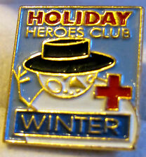Holiday Heroes Club Winter Pin With Snowman