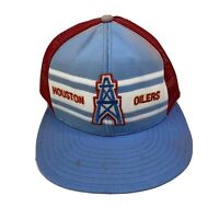 Vintage AJD Houston Oilers Snap-Back Mesh Trucker Hat Cap Football