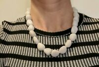 Chunky WHITE AGATE Necklace Crystal Stone Healing Reiki Charged *Read Below*
