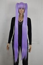Light Purple Extra Long Straight Cosplay Lolita Wig Ponytail +Hairnet