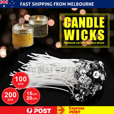 Candle Wicks Pre Waxed Wick Tabs Low Smoke Sustainers Cotton Tabs Core Holder AU