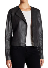 NWT Vince Snake Embossed Leather Jacket In GRAPHITE Size M  $995.00