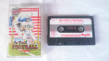 ON FIELD FOOTBALL FIREBIRD SILVER 199 RANGE COMMODORE 64 128 CMB 64 C64 PAL