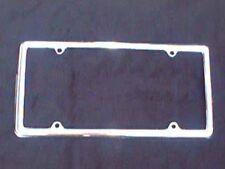 SLIM LINE SLIMLINE LICENSE PLATE FRAME PLAIN BLANK CHROME PLATED METAL
