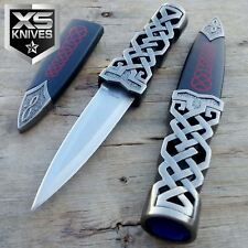 "9"" Blue Medieval Scottish Highland Celtic Sgian Dubh Knife Wicca Dirk Dagger"
