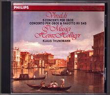 Heinz HOLLIGER: VIVALDI Oboe Concerto RV.452 454 545 I MUSICI Klaus THUNEMANN CD
