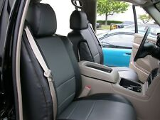 GMC YUKON 1999-2002 IGGEE S.LEATHER CUSTOM FIT SEAT COVER 13COLORS AVAILABLE