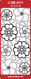 20x Doodey Embroidery Peel Offs Sheets - Many Designs Available