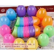20pcs Plastic Easter Egg Solid Color Empty Plastic Egg For Easter /Gift /Party.