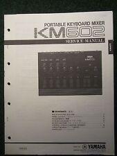 Yamaha Portable Keyboard Mixer KM602 Service Manual Schematics Parts List 1986