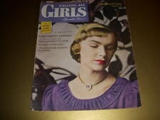 Vintage CALLING ALL GIRLS Magazine, October, 1948, TEEN BEAUTY ISSUE 40S FASHION