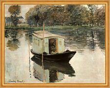 Das Atelierboot Claude Monet Hausboot Fluss Sonneneffekte LW H A2 0429