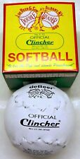 "One Dozen (12) Clincher F12 12"" Double Header Leather Softballs New"