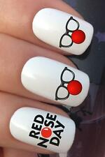 WATER NAIL TRANSFERS COMIC RELIEF RED NOSE DAY GLASSES DECALS STICKERS *630