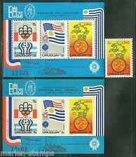 URUGUAY 1974  UPU SCOTT#C418  & C418a PERF & IMPERF  MINT NEVER HINGED