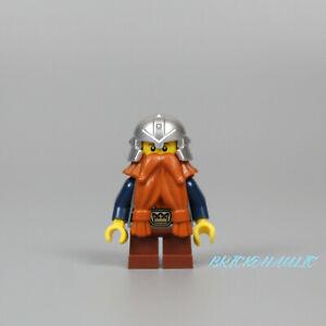 Lego Dwarf 852293 Dark Blue Arms Dark Orange Beard Fantasy Era Castle Minifigure