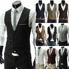 Men Vest Wedding Party Formal Business Waistcoat Jacket Office Work Tops Coat