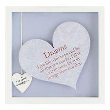 Said With Sentiment Dreams Heart Frame Wall Art Home Inspirational Keepsake Gift