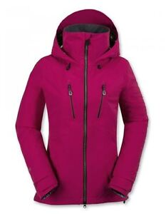 NWT WOMENS VOLCOM PVN GORE STRETCH SNOWBOARD JACKET $400 S maroon mobility