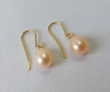 Unbranded Yellow Gold Filled Drop/Dangle Fine Pearl Earrings