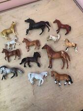 Lot of 13 Plastic Toy Horses Schleich Breyer Sunrise VINTAGE