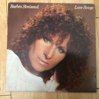 "Barbara Streisand - Love Songs - 12"" CBS 10031 Vinyl LP"