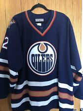 Vintage CCM EDMONTON OILERS NHL Hockey Jersey with Fight Strap