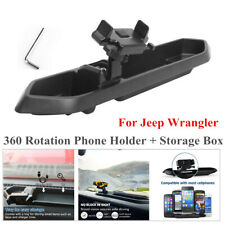 360° Rotatable  Desk Phone Mount Holder+Storage Box  Fits Jeep Wrangler JL 18-19