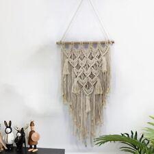 Boho Macrame Wall Hanging Woven Art Handmade Tapestries Home Decor 45x77cm