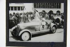 altes original privat Foto auf Glas positiv Auto Adler Trumpf um 1930 Autorennen
