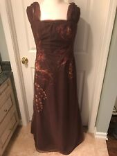 Liancarlo Brown Formal Embroidered Evening Dress/gown, Size 12