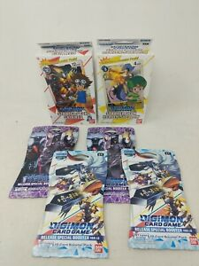Digimon Card Game Starter Decks Gaia Red + Heaven's Yellow + 4 Booster Packs