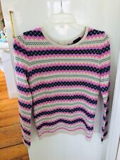Talbots Petites Sweater Nordic Stripes Back Zipper Size Petite NWT